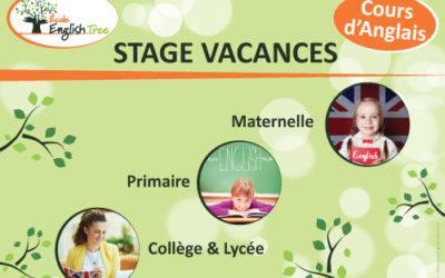 Stage vacances Juillet 2021